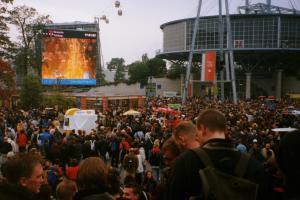 Das Messegelände im Oktober 2000 - EXPO-Zeit